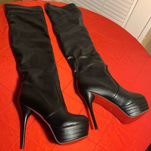 Mostrin Over The Knee Thigh High Narrow Boot (NEW)